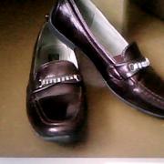 Туфли для девочки ,  кожаные