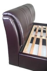 Кровать (экокожа) с подъемным механизмом и коробом для белья