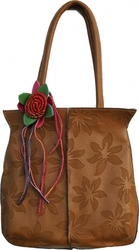 Продам рыжую сумку с цветком Новая