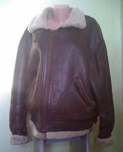 Кожаная меховая зимняя куртка - дублёнка Пилот
