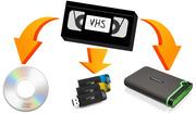 Оцифровка и перезапись домашнего видео на цифровой носитель.