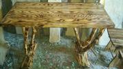 Садово-парковая мебель из дерева  столы,  беседки,  качели и др.