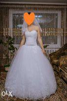 Єлегантное свадебное платье с французской паеткой