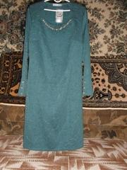 женское платье нарядное трикотаж 3d