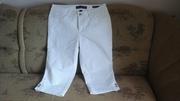 Женские белые брюки-шорты